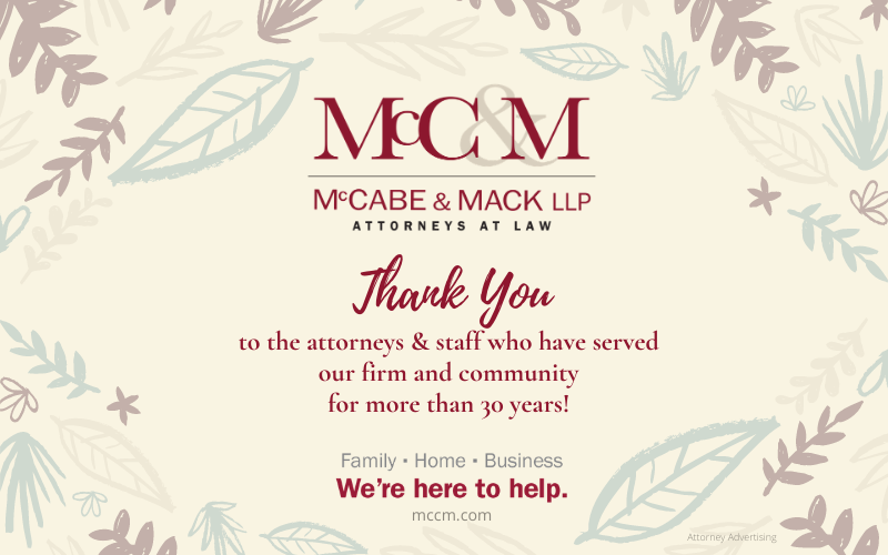 Thank you to long-serving attorneys and staff