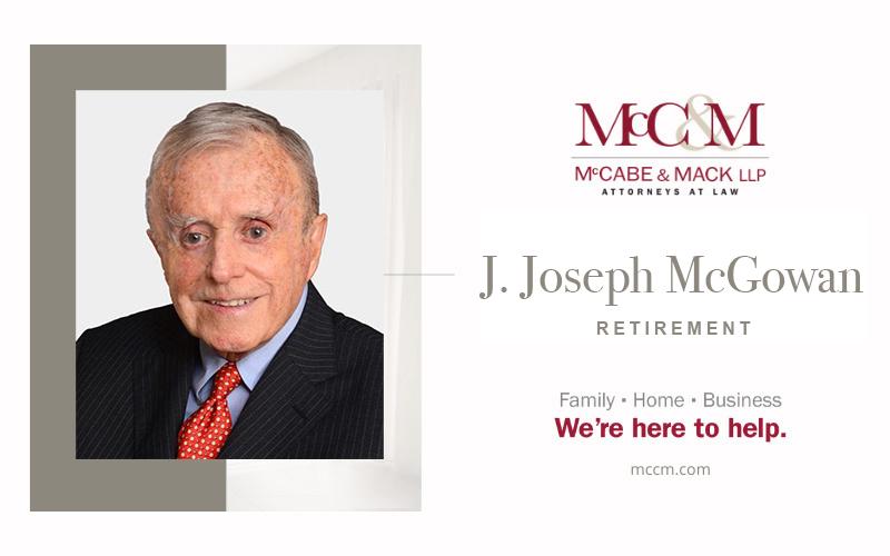 J. Joseph McGowan Retires